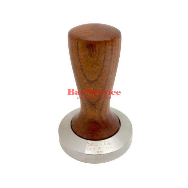 Темпер Мотта SLIM 58 мм. (плоский) рукоятка из дерева в Тюмени